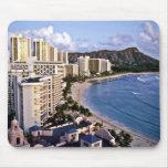 Diamond Head - Waikiki Beach, Oahu Mouse Pad