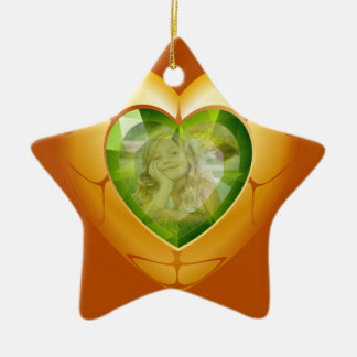 Diamond Heart Add Photo Ornament