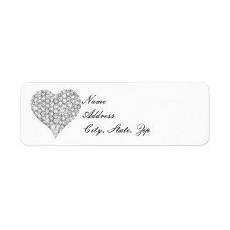 Diamond Heart Address Labels