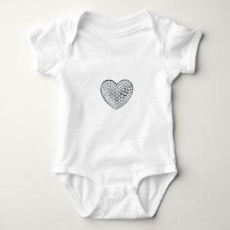 Diamond Heart Baby Bodysuit