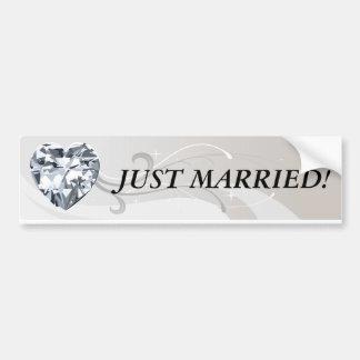 Diamond Heart Banners Bumper Sticker