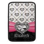Diamond Heart Bling Macbook Air Sleeve 13 / 11 Inc at Zazzle