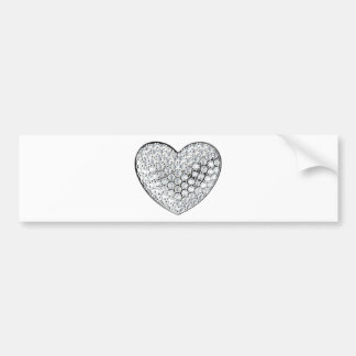 Diamond Heart Bumper Sticker