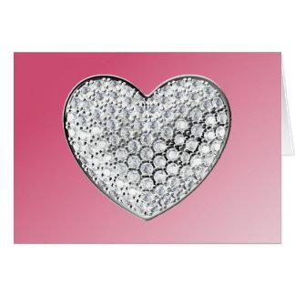 Diamond Heart Card