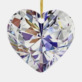 Diamond Heart Christmas Ornament