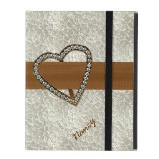 Diamond Heart Custom Ipad 2/3/4 Case at Zazzle