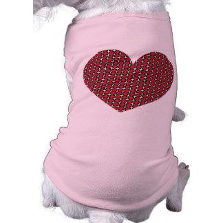 Diamond Heart Dog T-shirt
