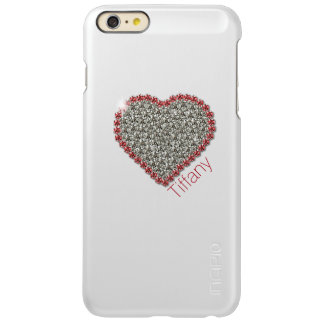 Diamond Heart Graphic Custom iPhone 6 Plus Case Incipio Feather® Shine iPhone 6 Plus Case