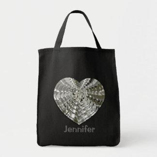Diamond Heart Grocery Tote Bag