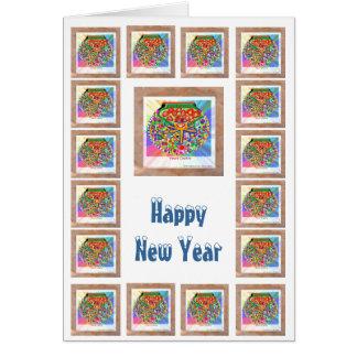 Diamond Heart - Happy NewYear Stationery Note Card