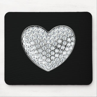 Diamond Heart Mouse Pad