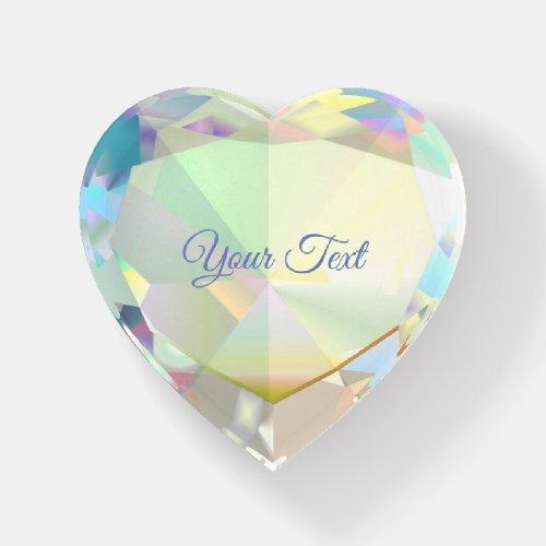 Diamond Heart Personalized Paperweight