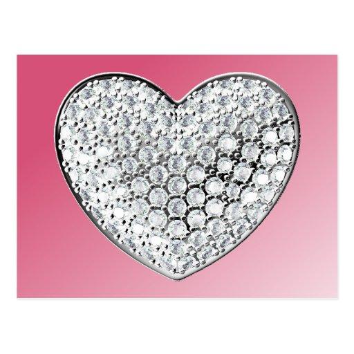 Diamond Heart Post Cards