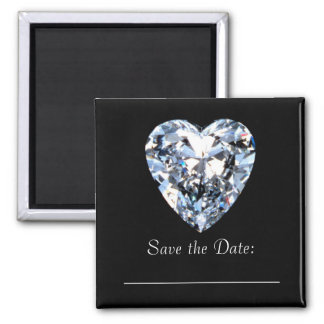 Diamond Heart  - Save the Date Magnet