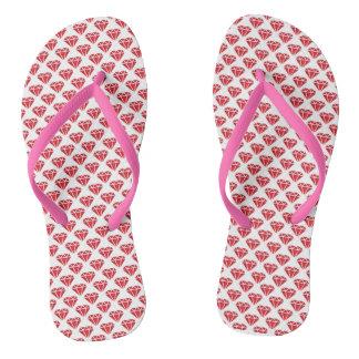 Diamond & Hearts Flip Flops