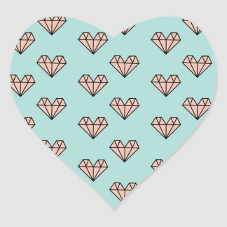 DIAMOND HEARTS HEART STICKER