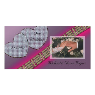 Diamond Hearts Lavender and Pink Card
