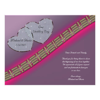 Diamond Hearts Lavender and Pink Flyer