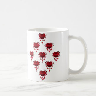 Diamond Hearts Coffee Mugs