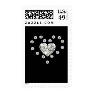 Diamond Hearts Postage