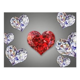Diamond Hearts - Postcard