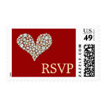 Diamond Hearts RSVP - Postage