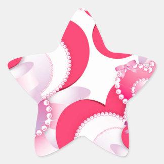 Diamond-Hearts Star Sticker
