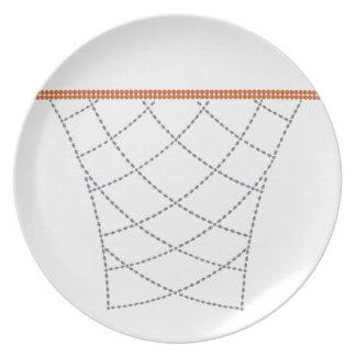 Diamond Hoops Dinner Plate
