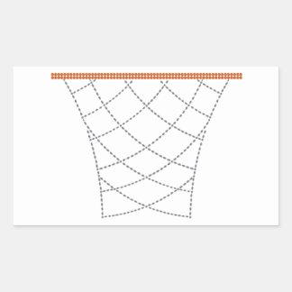 Diamond Hoops Rectangular Sticker