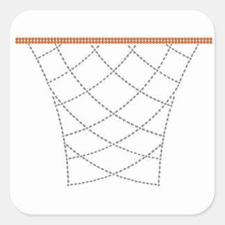 Diamond Hoops Square Sticker