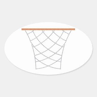 Diamond Hoops Oval Sticker