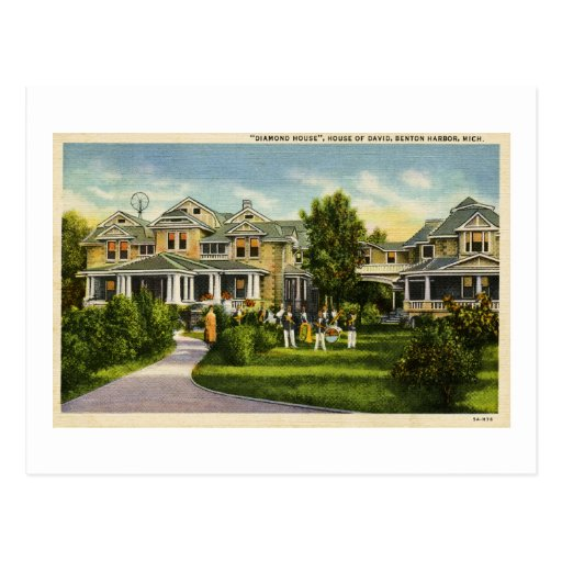 Diamond House Of David Benton Harbor MI Postcard