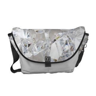 Diamond Ice Crystal Glitz Glam Glam Bag Tote Purse Courier Bag