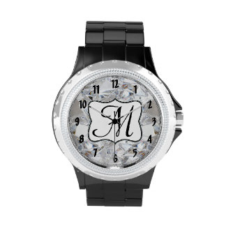 Diamond Ice Crystal Glitz Glam Glamour Dazzl Watch