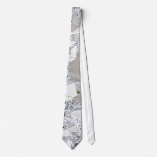 Diamond Ice Crystal Glitz Glam Glamour Mens Tie