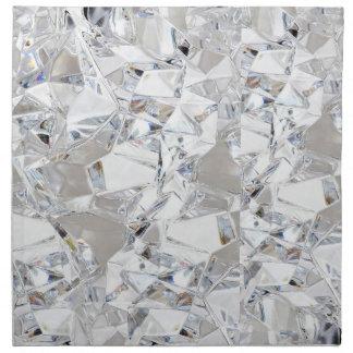 Diamond Ice Crystal Glitz Glam Glamour Napkins