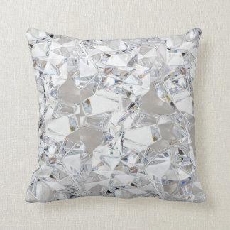 Diamond Ice Crystal Glitz Glam Throw Couch Pillow