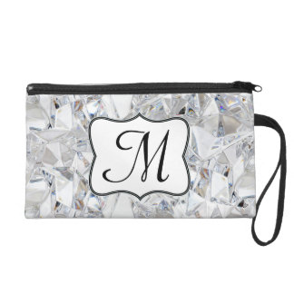 Diamond Ice Crystal Glitz Make Up Bag Tote Purse Wristlet Clutch