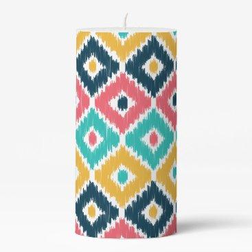 Aztec Themed Diamond Ikat Patterned Candle