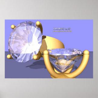 Diamond in 3D II (print) Poster