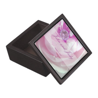 Diamond in a Pink Rose Personal Wedding Premium Trinket Boxes