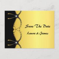 Diamond Jewel Chain Save The Date Wedding Postcard postcard