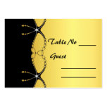 Diamond Jewel Chain Wedding Table Setting Card Large Business Cards (Pack Of 100)