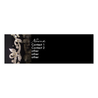 Diamond Jewelry Classic Profile Card Double-Sided Mini Business Cards (Pack Of 20)