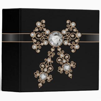 Diamond,jewelry,lace,silver,lace,black,pearls,chic Vinyl Binder