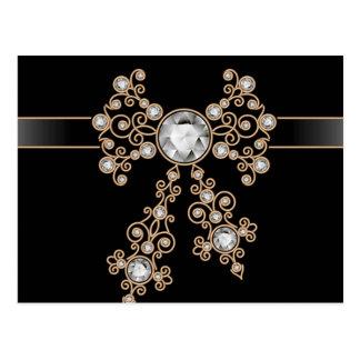 Diamond,jewelry,lace,silver,lace,black,pearls,chic Postcard