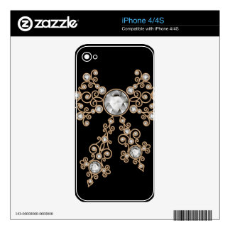 Diamond,jewelry,lace,silver,lace,black,pearls,chic iPhone 4 Decals