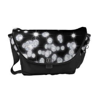 Diamond Jewels Jewelry Glitz Glam Bag Tote Purse Courier Bag
