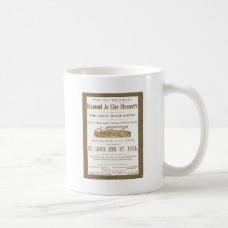 Diamond Joe Steamer Mississippi River Boat Ad 1897 Coffee Mug