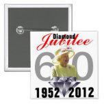 Diamond Jubilee 1952-2012 Button